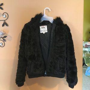 Kids fur coat nice condition